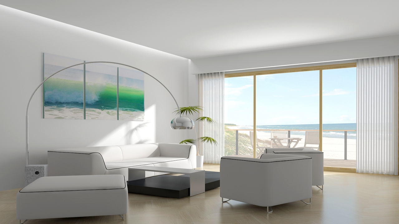 Contemporary beach house interior design hamptons beach for Beachside home designs