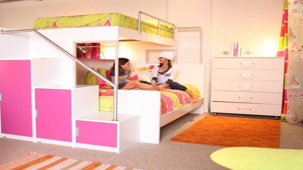 Cool Bunk Beds For Teenage Girls Bunk Beds With Swirly