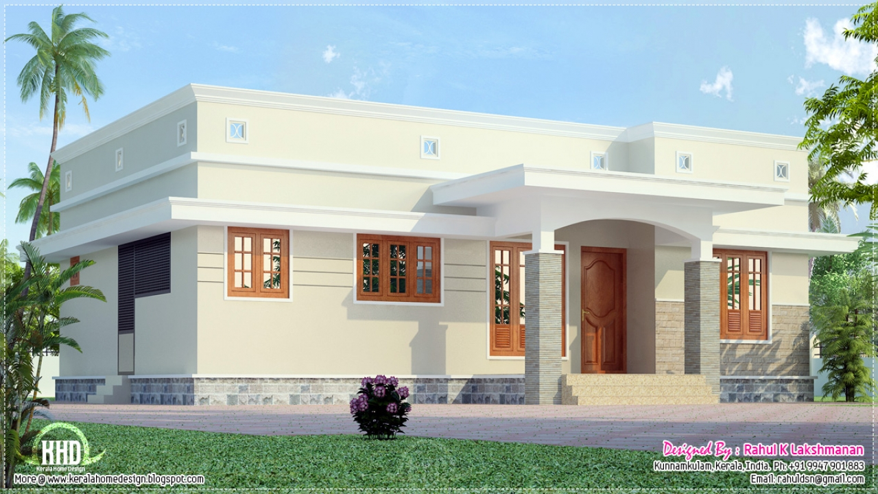 Best House Front Elevation For Ground Floor : Small house plans kerala home design model