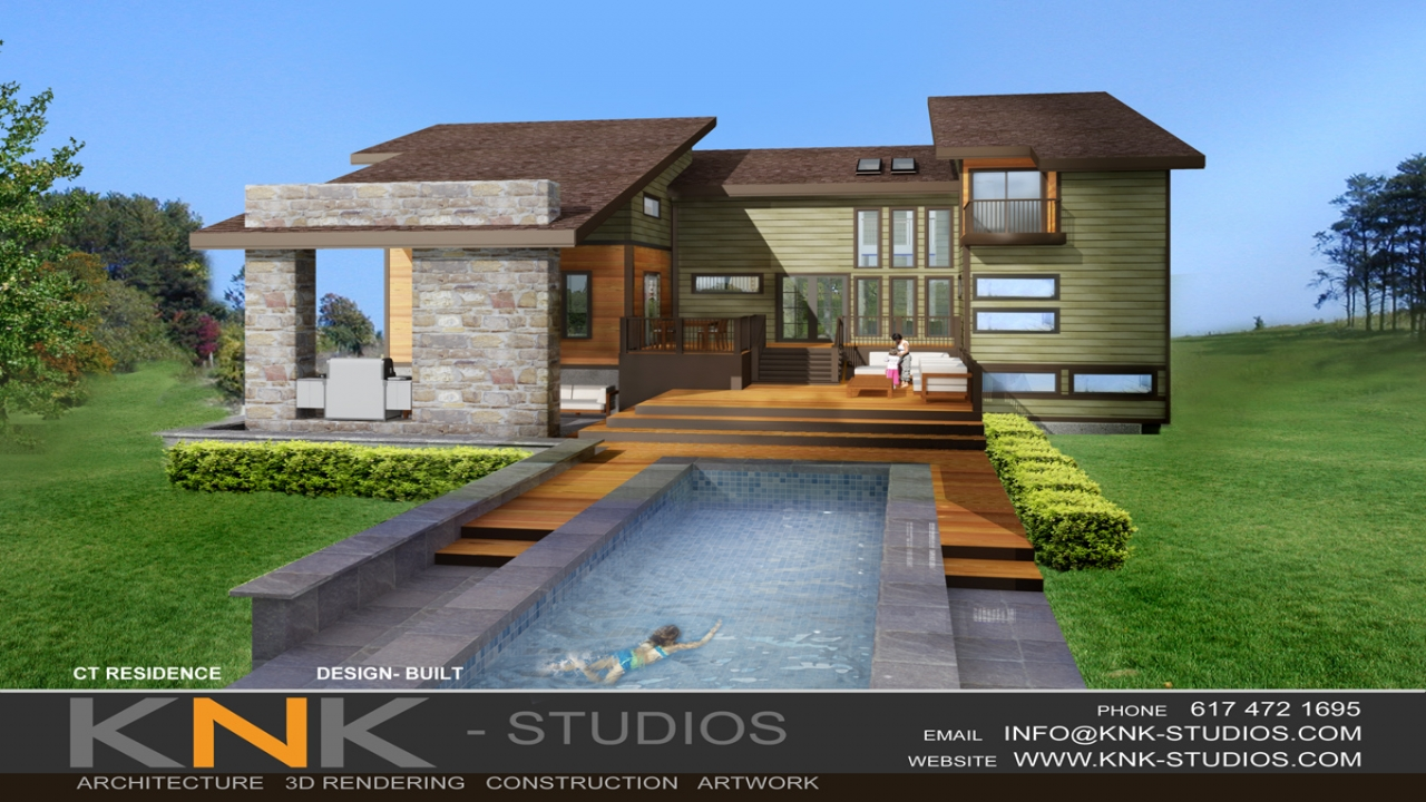 Inexpensive contemporary home modern house modern green for Modern green home