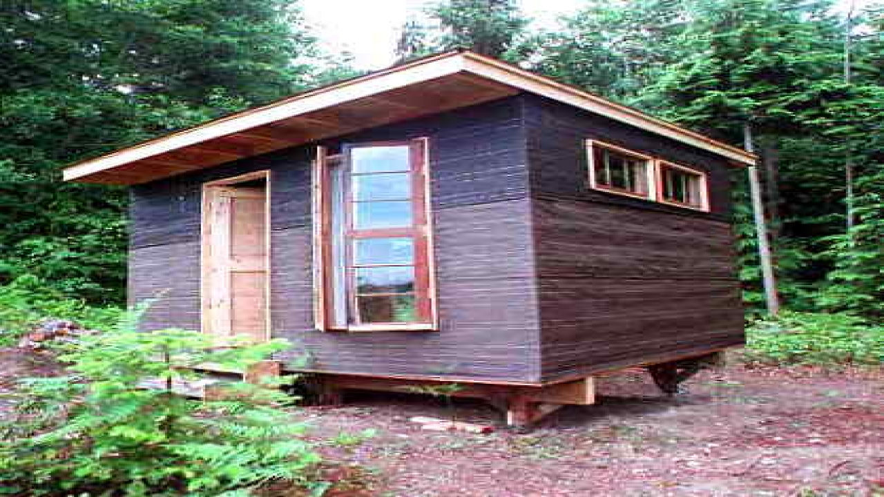 Do It Yourself Home Design: Small Build Yourself Cabin Plan Easy To Build Small Cabins