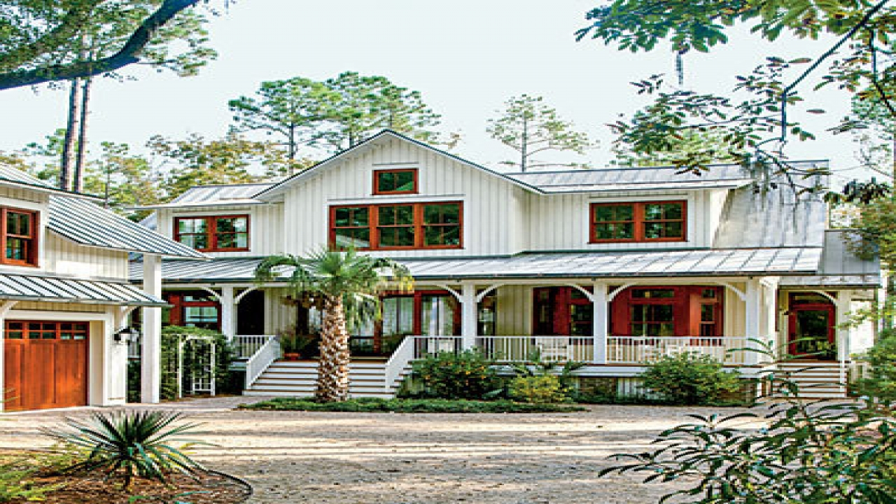 Open floor plan modern farmhouse modern southern house for Country living magazine house plans