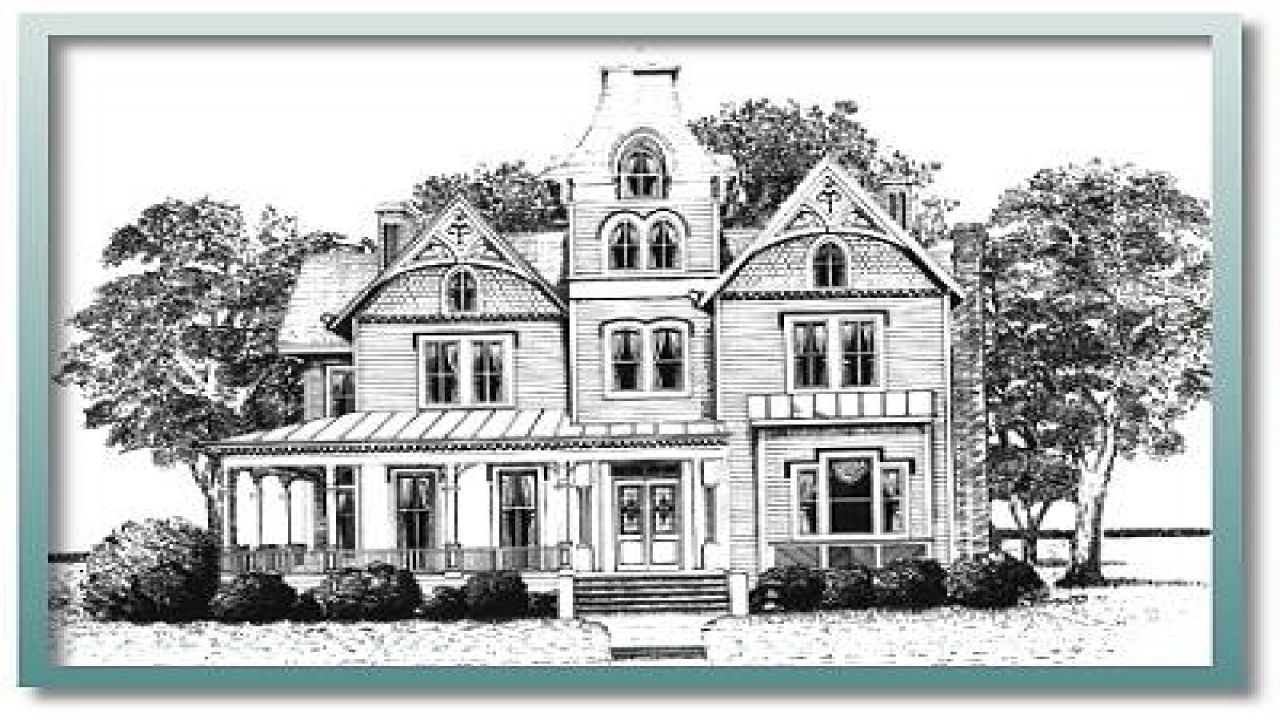 Historic house plans 1900 historic victorian house plans for Historical home plans