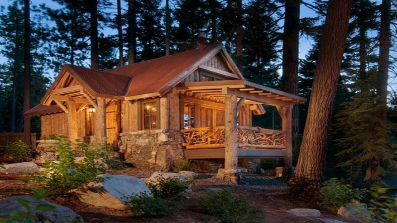 Log Home In The Woods ~ Log cabin in the woods small cabins and cottages tiny