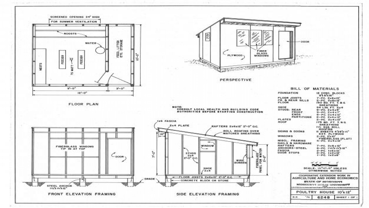 Free printable chicken coops blueprints free printable for Printable floor plans