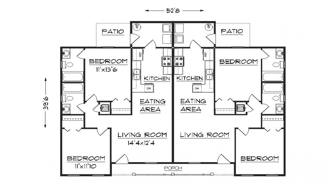 Duplex Floor Plans Duplex House Plans With Garage Plan