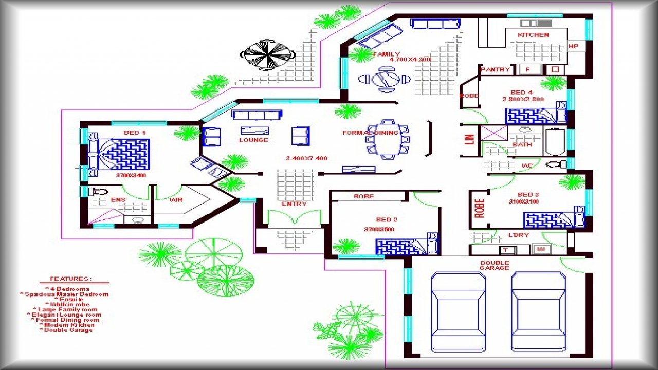 Large Family House Floor Plans Single Family Home 4