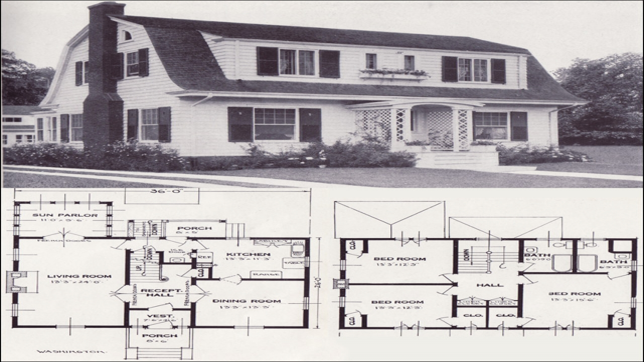 1920s dutch colonial house plans 1920 spanish colonial for Spanish colonial home plans