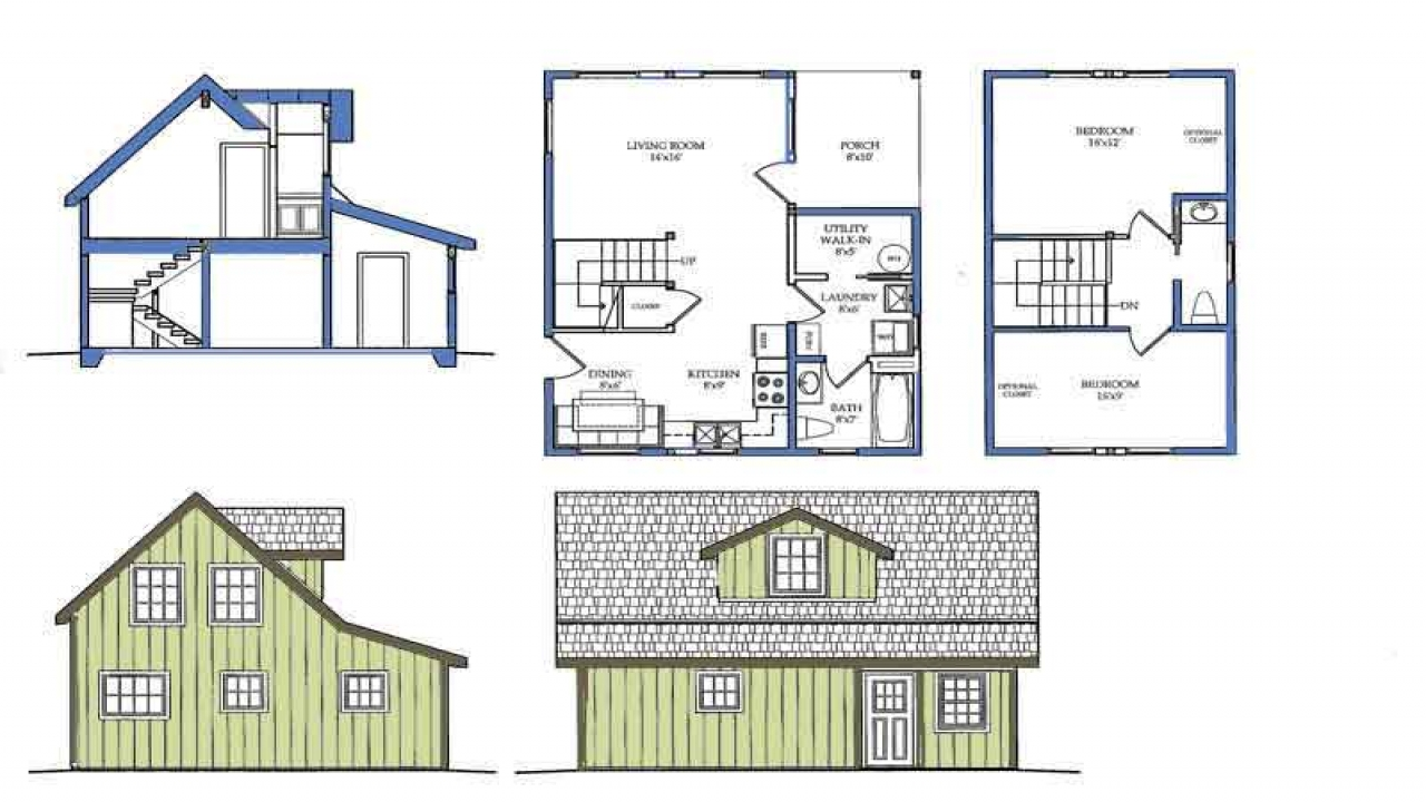 Small house plans with porches small house plans with loft for 4 bedroom house with loft