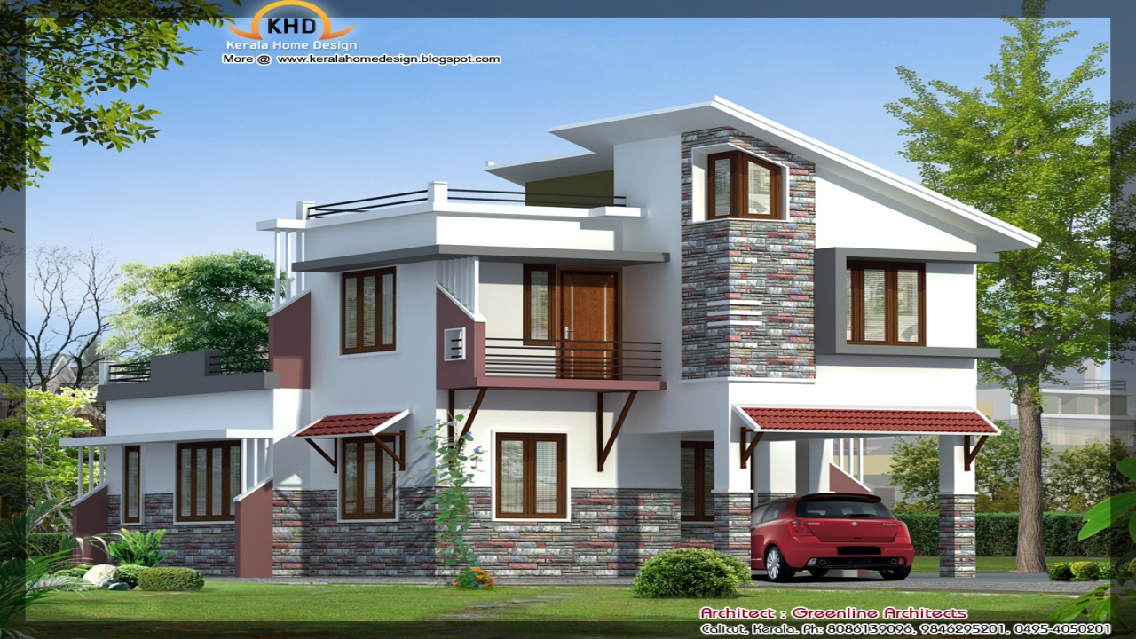Luxury villa design elevation modern villa design modern for Villa house plans