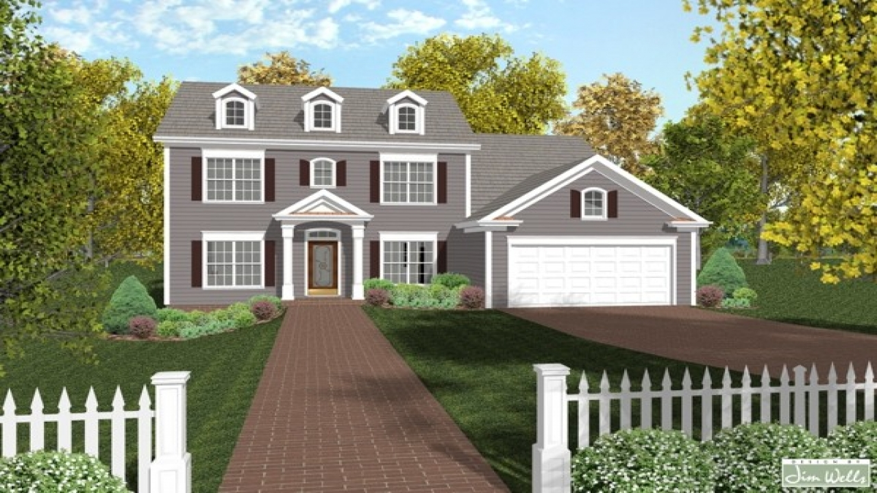 New england colonial house plans colonial house plans for Colonial home ideas