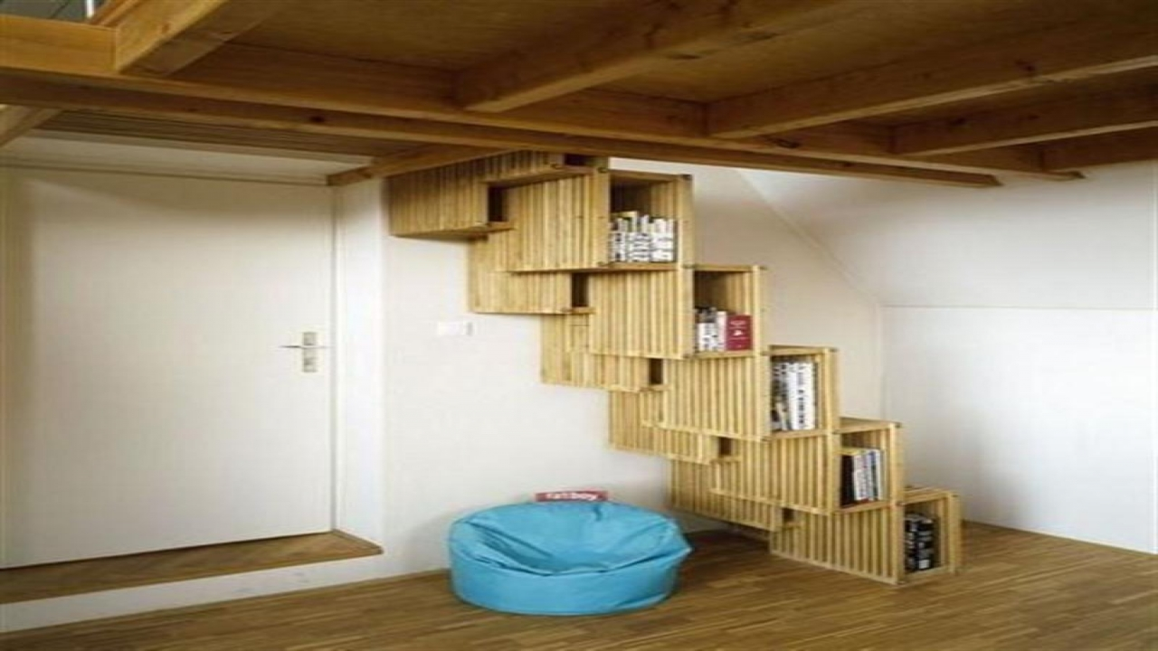 Space saving stairs design space saving spiral staircase for Small house design books
