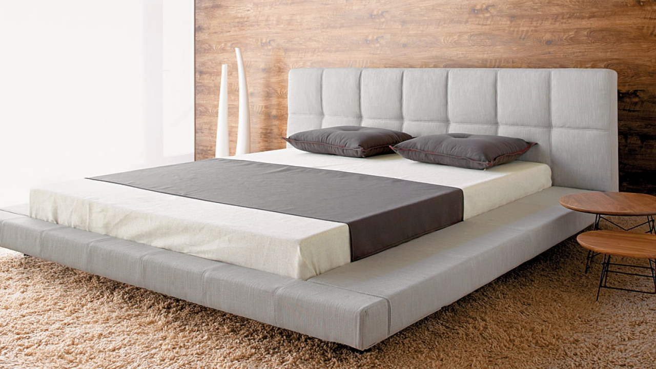 Modern platform bed frame design modern king platform beds for Bed styles images