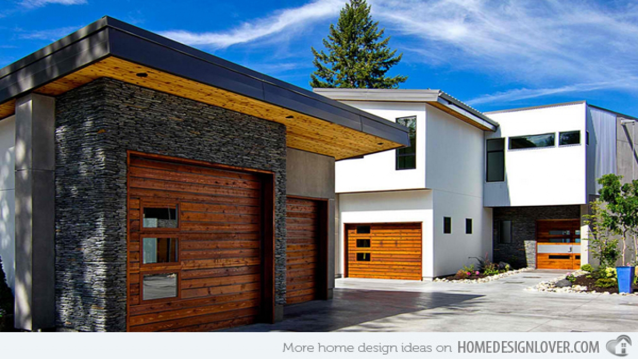 Modern homes with detached garage detached home additions for Contemporary home builders