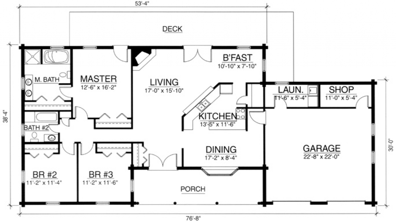 2 bedroom log cabin homes 3 bedroom log cabin floor plans for Lodge plans with 8 bedrooms
