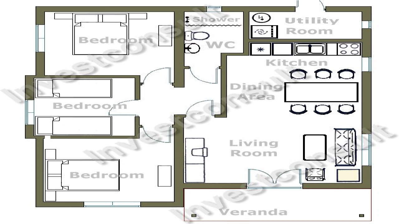 Small 3 bedroom house floor plans 2 bedroom house layouts for 2 bedroom homes to build