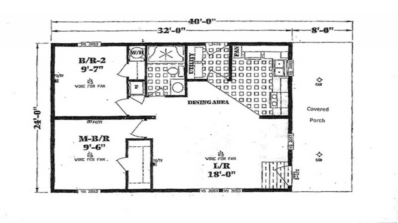 Small double wide mobile home floor plans double wide for Double wide home plans