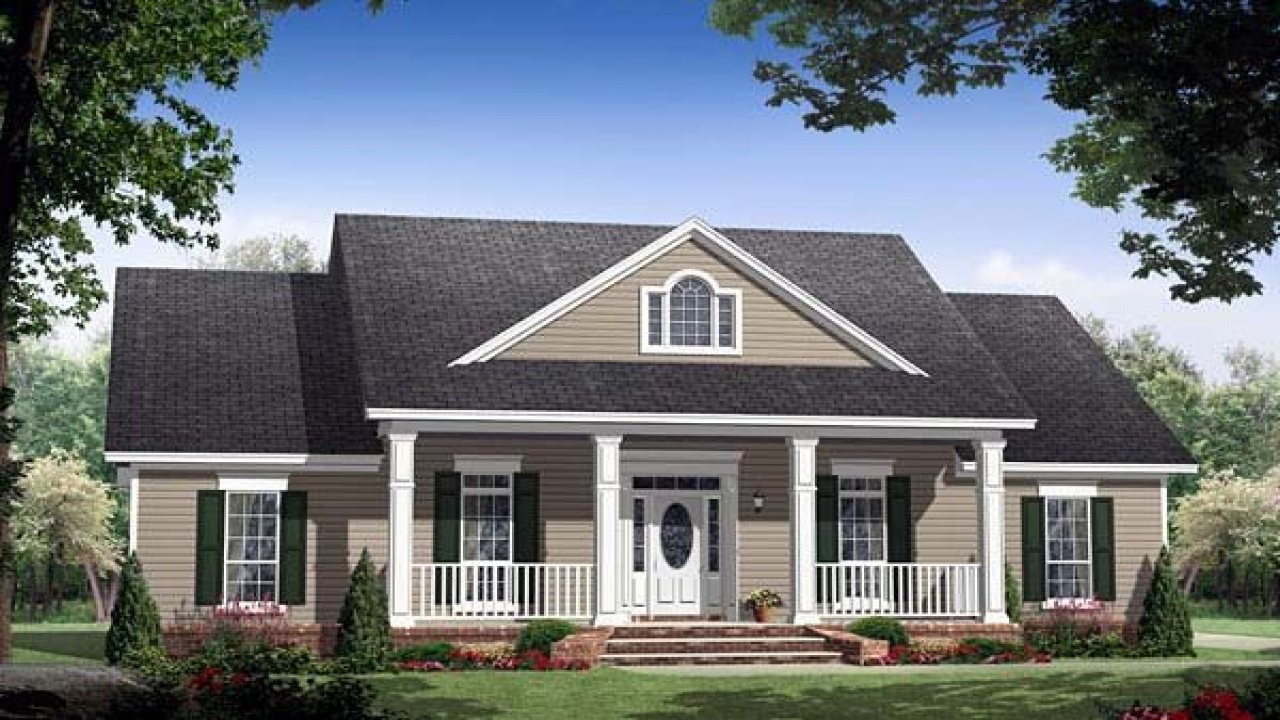 Japanese style house plans mayberry house plan for Traditional farmhouse plans