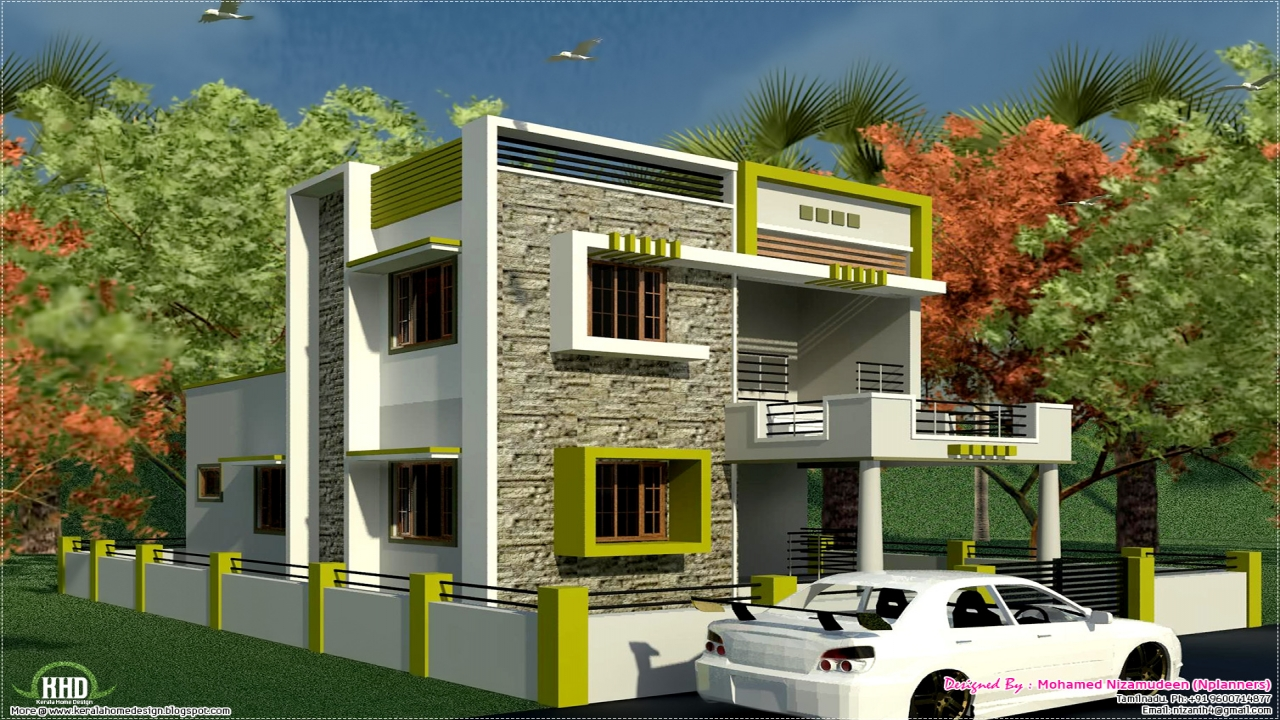 House Elevation Plan Images : Elevation of modern houses in india south indian style