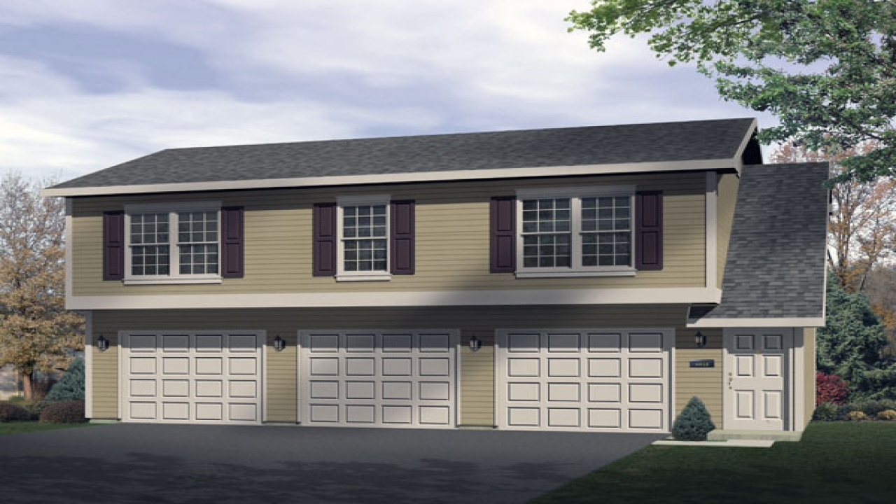 2 car garage with apartment plans 2 car garage with for Garage plans with apartment on top