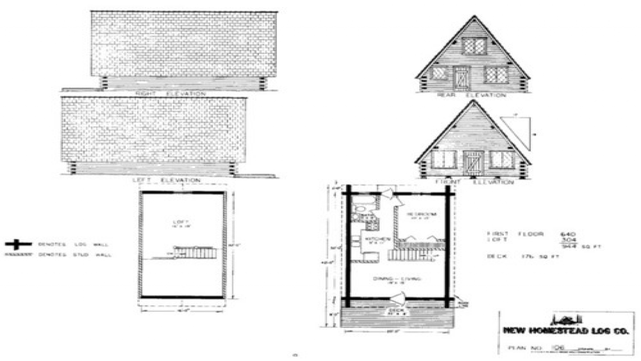 Unique small cabin plans small cabin plans under 1000 sq for Small cottage floor plans under 1000 sq ft