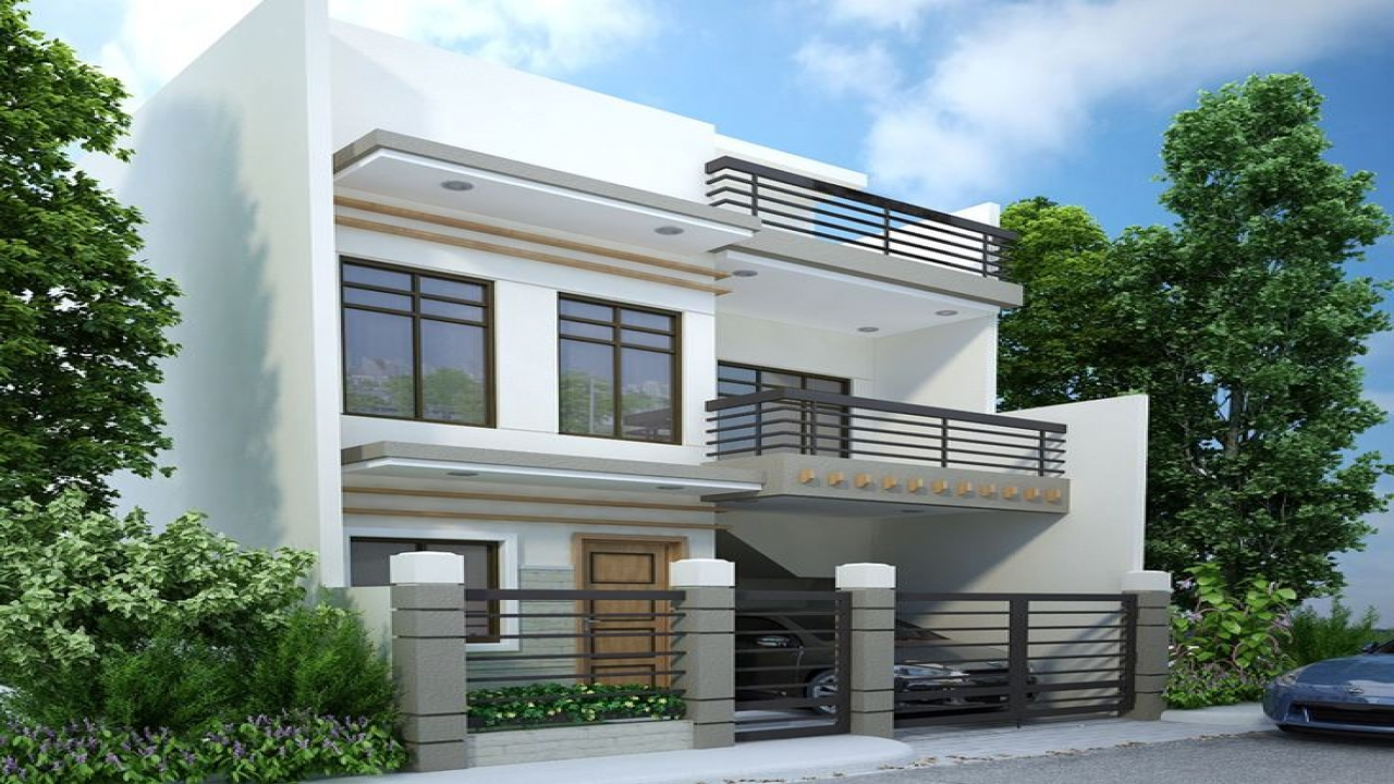 Middle class modern two story house two story modern house design modern two storey house plans - Modern two story houses ...