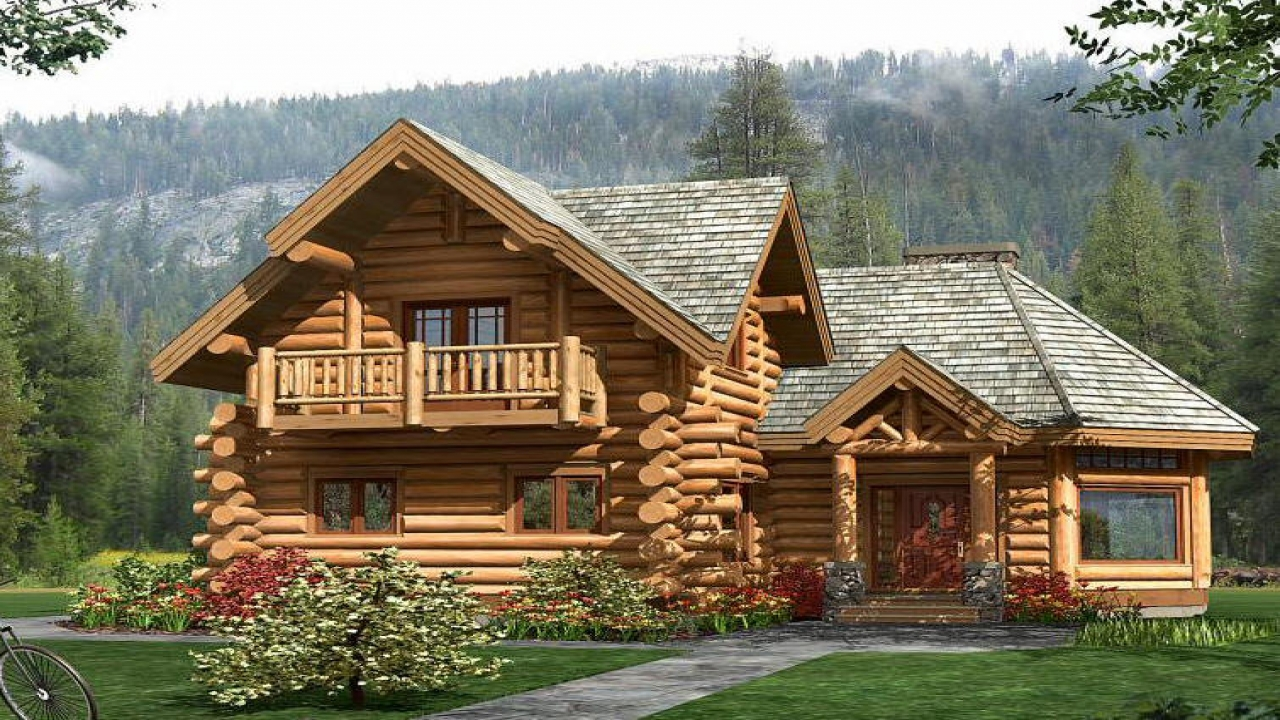 Beautiful log cabin home most expensive log homes 2 story for Extravagant log homes
