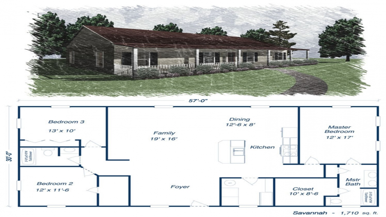 Metal building homes floor plans metal house kits and for Savannah style house plans