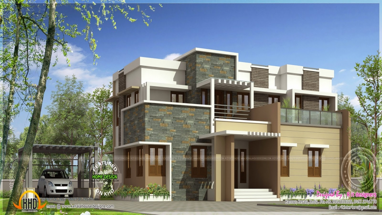 Flat Roof Modern House Plans Flat Roof Two Story House