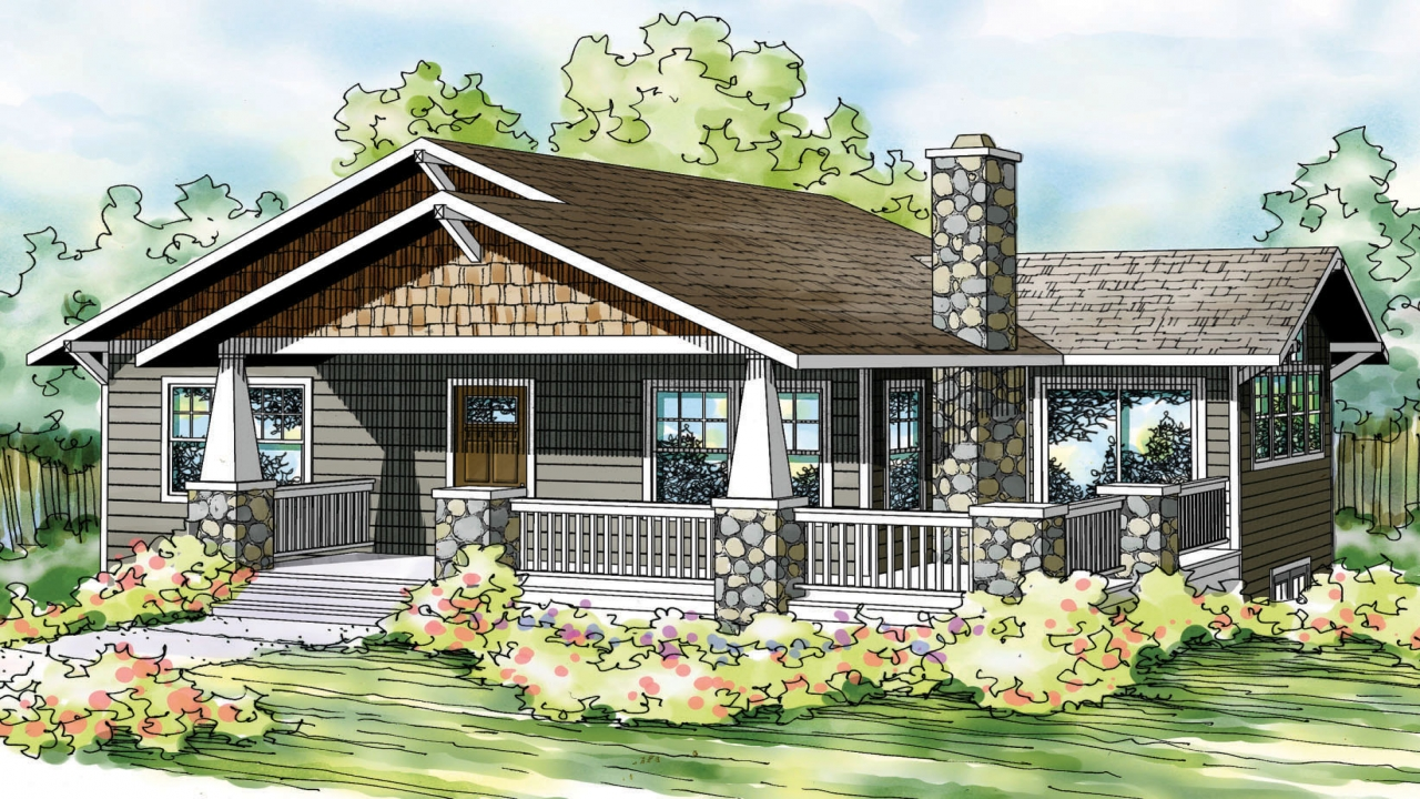 Bungalow house plans one story bungalow floor plans - Bungalow house design with floor plan ...