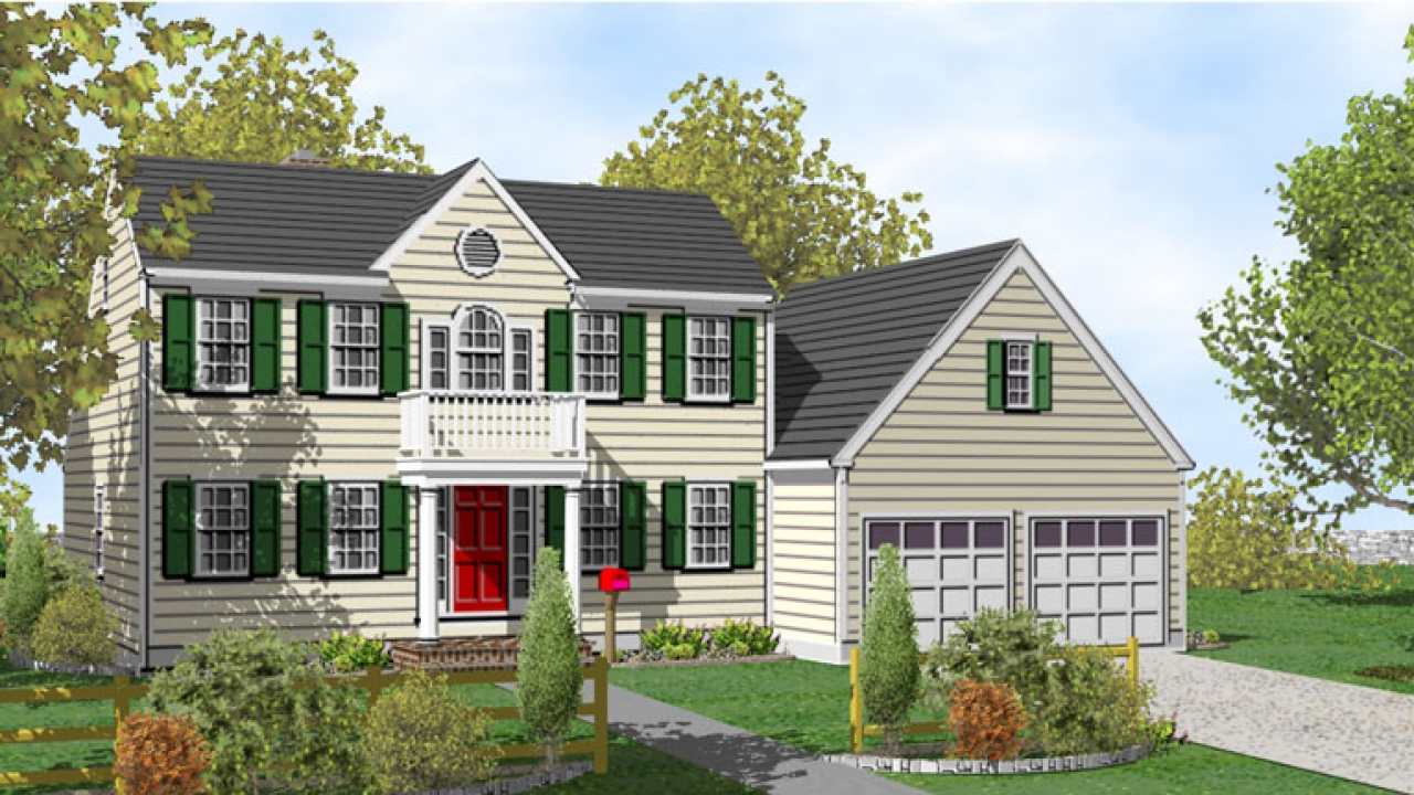 Colonial two story house plans 2 story colonial house two for Colonial house blueprints