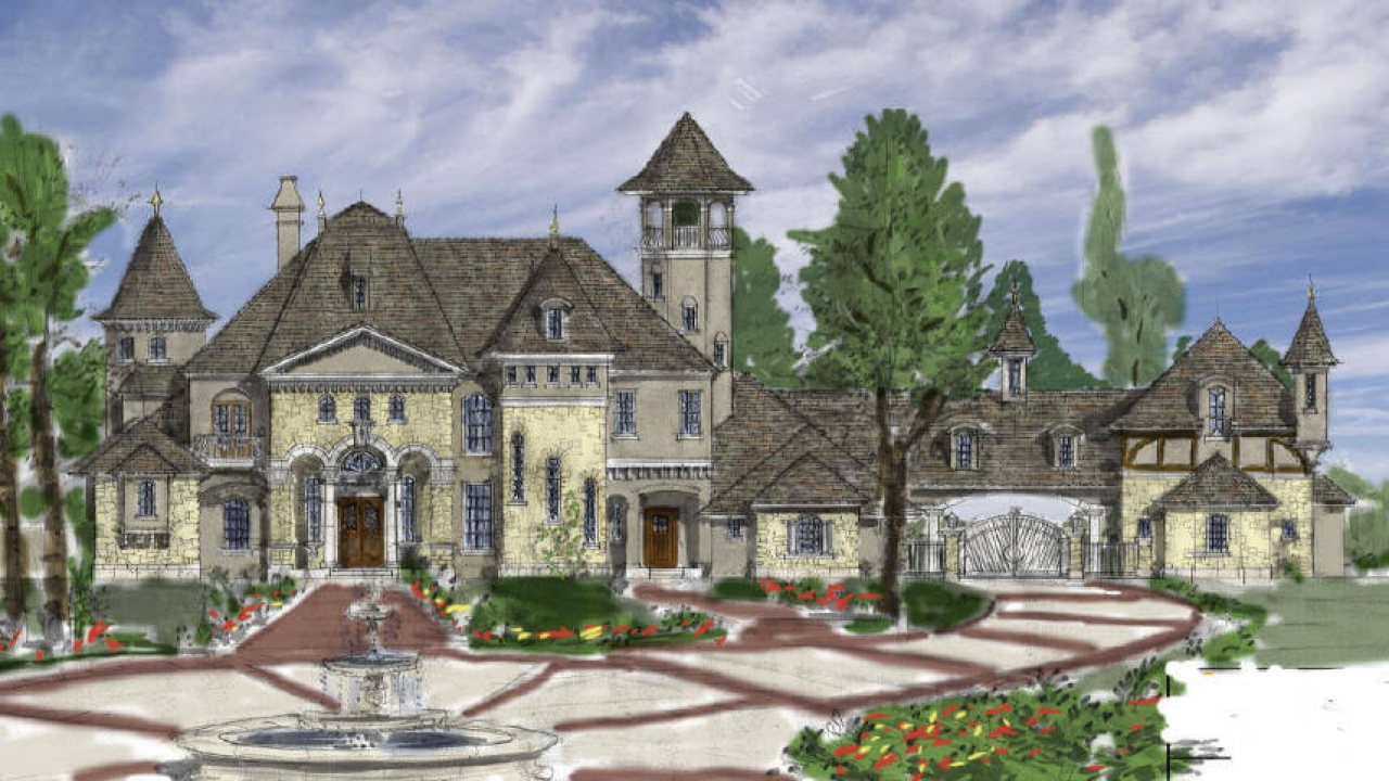 French country house plans designs french country for Luxury home builders louisiana