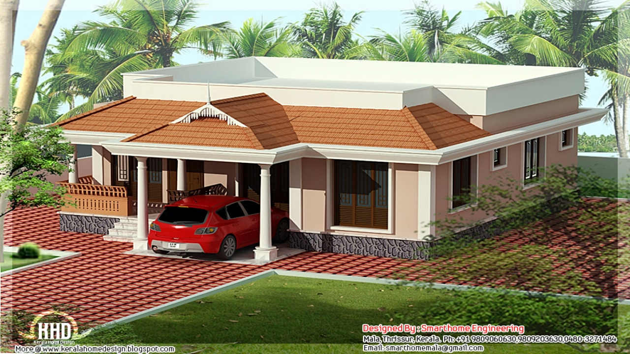 Kerala single floor house plans kerala home plans and for One floor house design plans 3d
