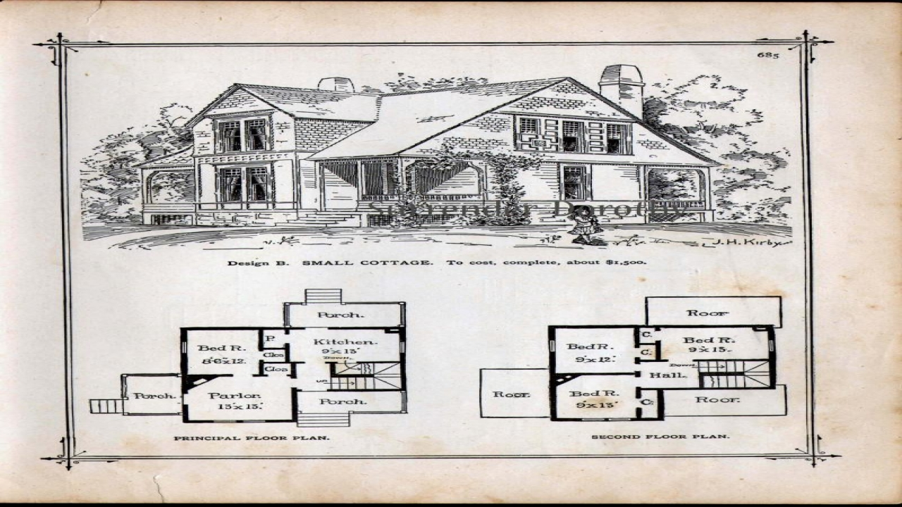 Small victorian cottage house plans small lakeside for Historic bungalow house plans