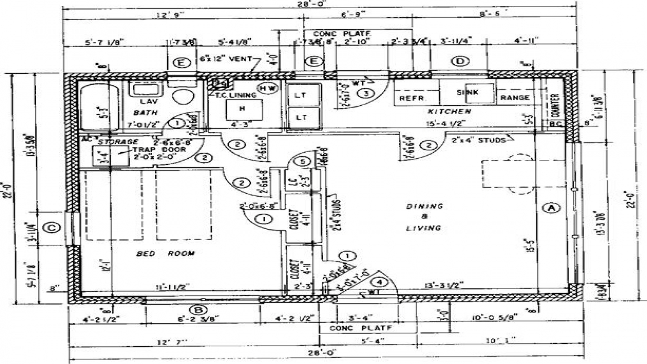 Architectural Floor Plans With Dimensions Architectural