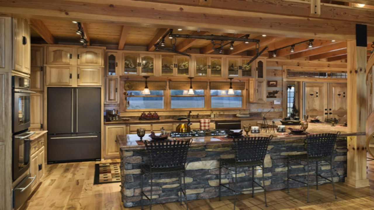 Log Home Kitchen Island Ideas Log House Kitchen Design Ideas Modern Log Cabin Homes