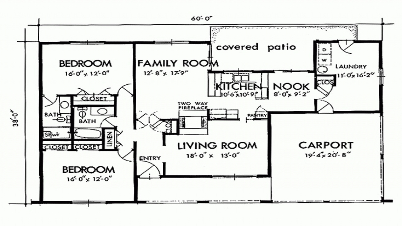 Two bedroom house simple plans two bedroom houses inside outside two bedroom home plan for Two bedroom house design plans