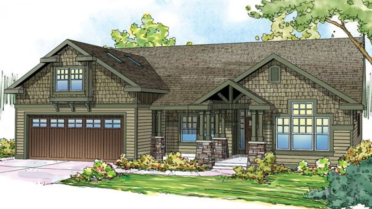 Greek revival house style craftsman style bungalow house for Bungalow plans with garage