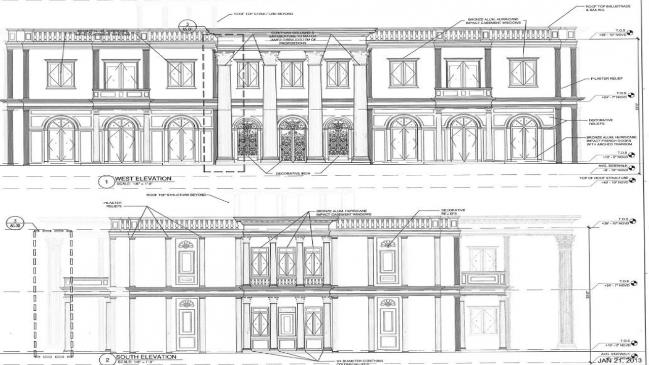 Miami architectural design house plans architectural for Miami mansion floor plans