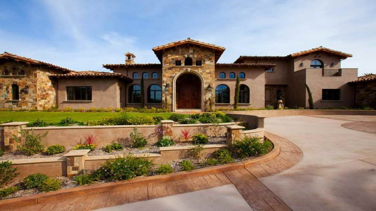 Italian Tuscan Style Home Spanish Style Homes With