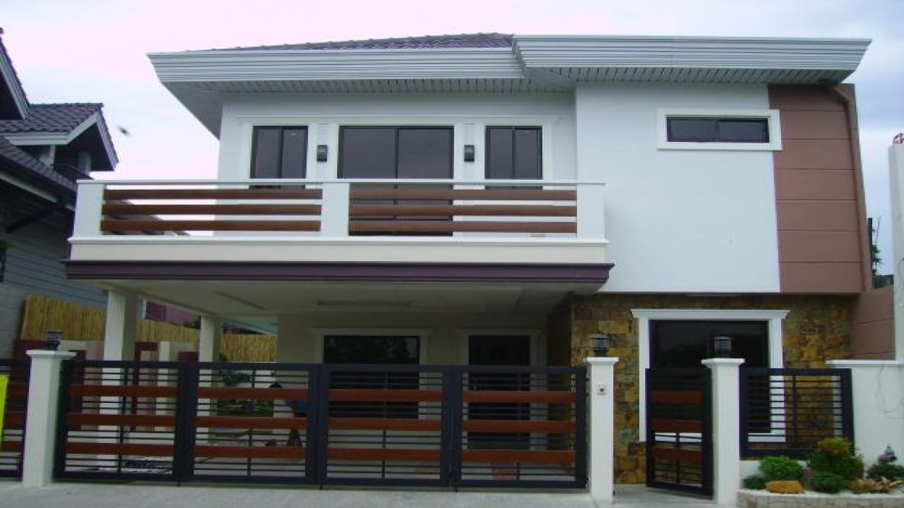 Design 2 storey house with balcony images 2 story modern for Two story homes with balcony