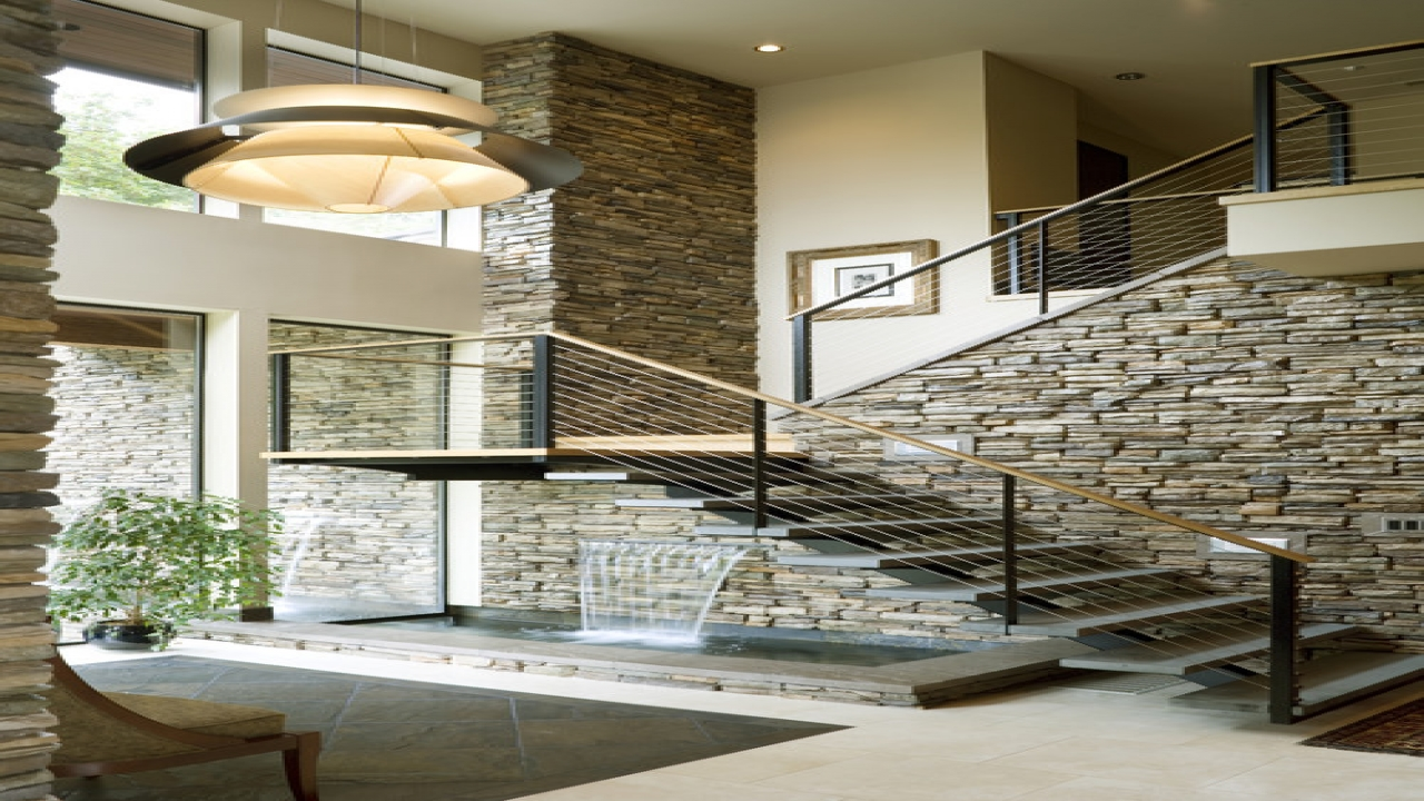 Payson waterfalls in staircase staircase with waterfall for Modern house features