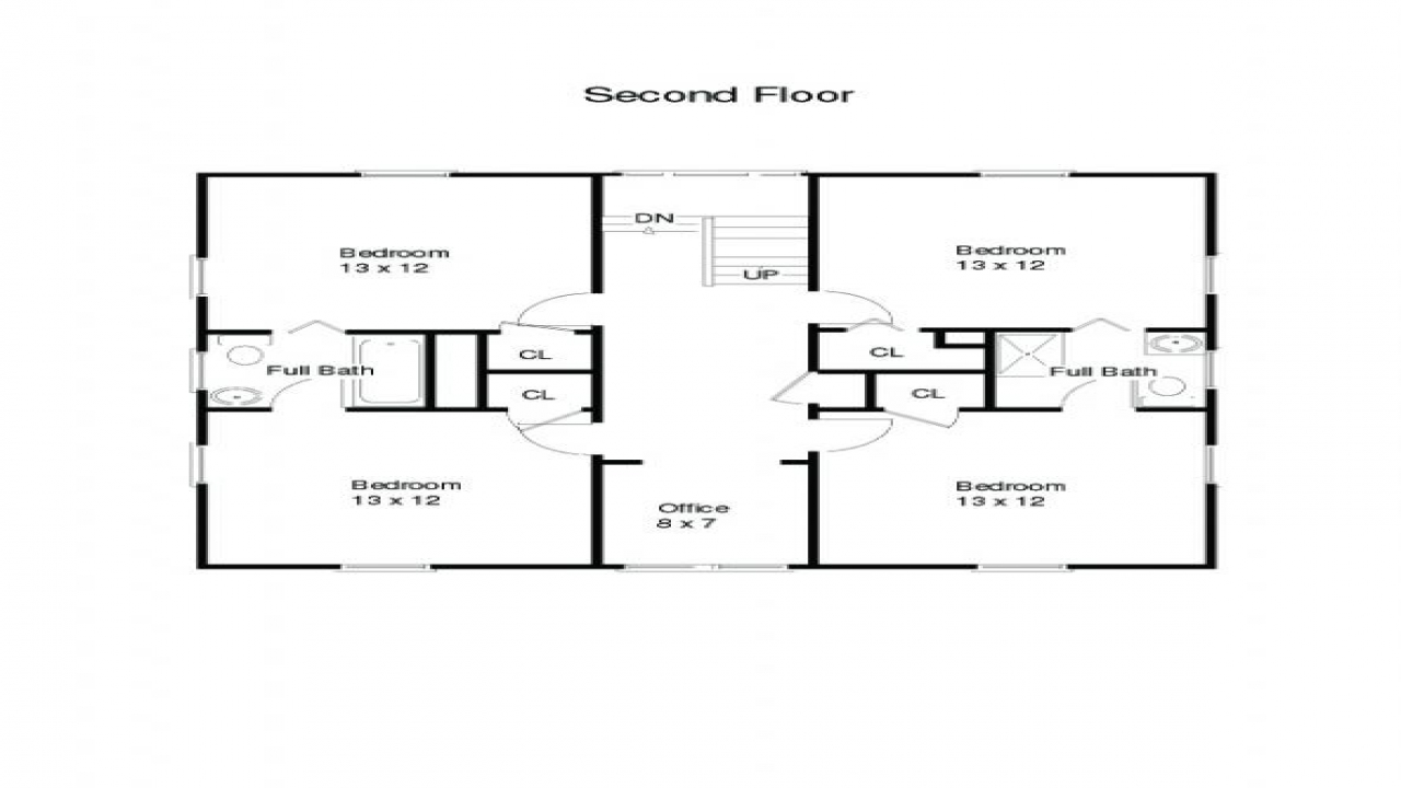 Small square house simple square house floor plans Small foursquare house plans