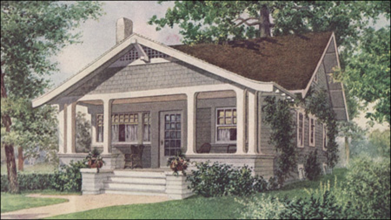 Small bungalow house plans bungalow house plans with for Old style homes built new
