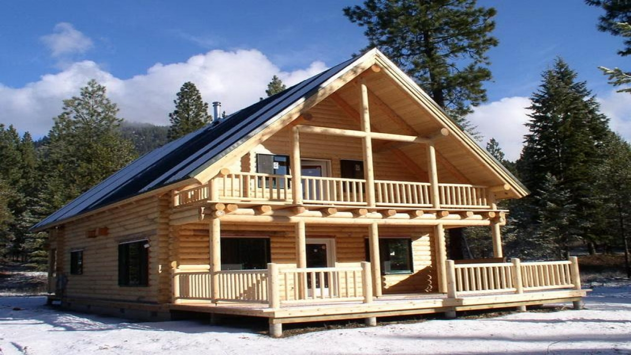 Small log cabin floor plans small log cabin kits small for Ranch home kits for sale