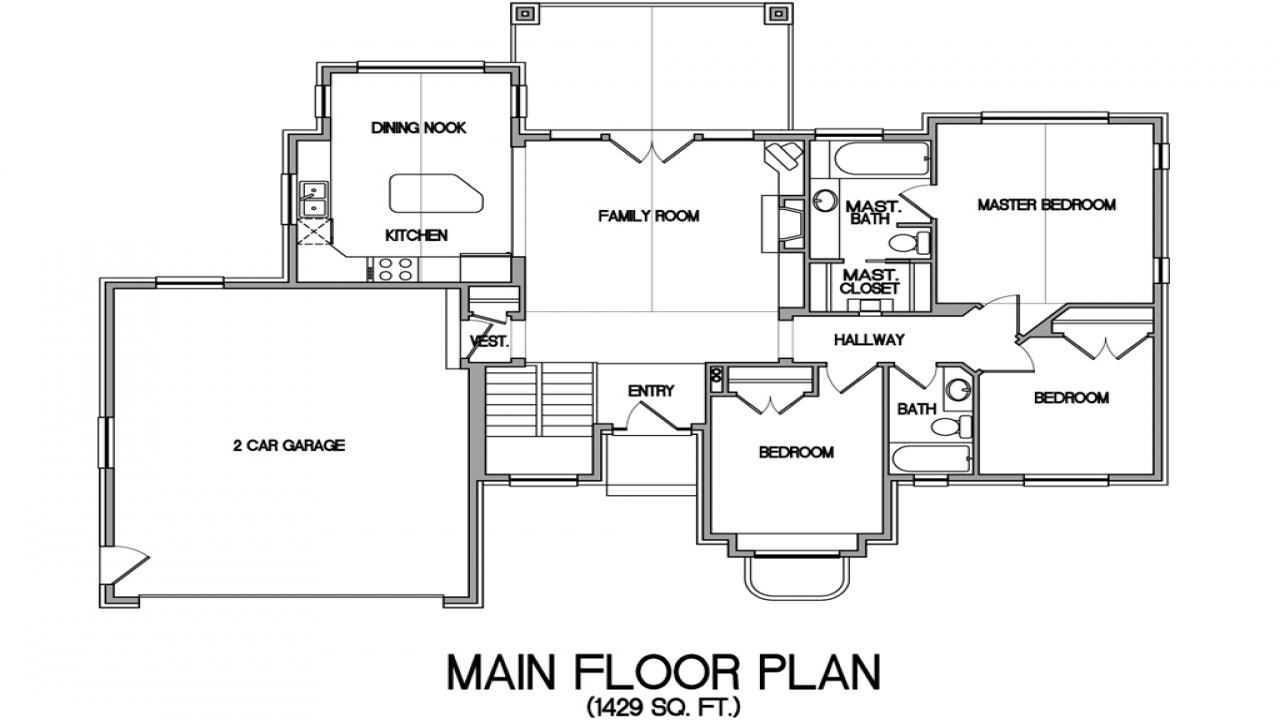 Lake house open floor plans lake house floor plans with a for Floor plan designs for homes