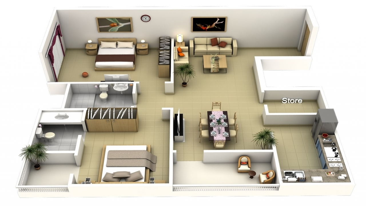2 Bedroom Apartment Layouts Apartment 2 Bedroom House ...