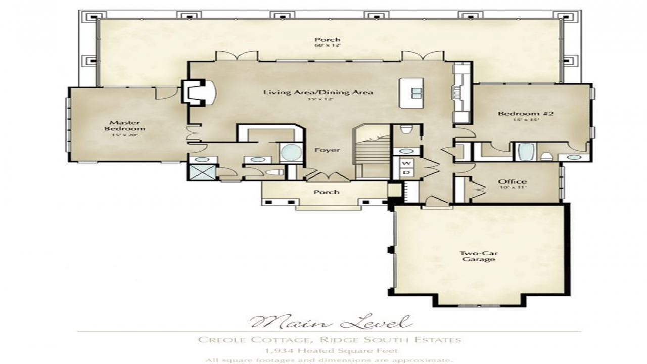 Cajun house plans creole cottage house plans lake house floor plan - Lake house blueprints image ...