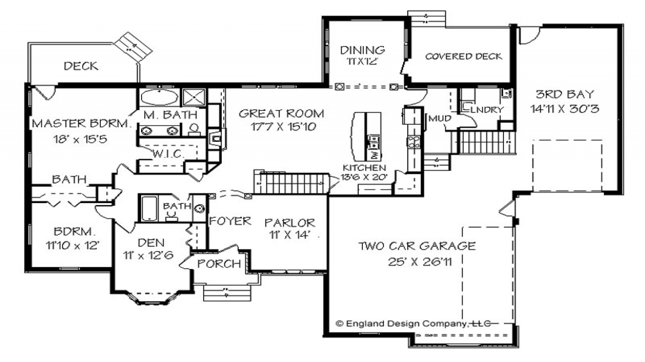 Ranch Style House Floor Plan Design Modern Ranch Style
