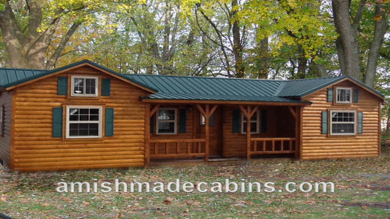 Pre built cabins for delivery amish built cabin kits log for Log home plans prices